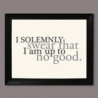 Harry Potter I Solemnly Swear Marauder's Map by HesedBooksAndGifts