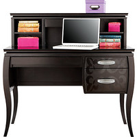 Belle Noir Dark Merlot Desk &amp; Hutch
