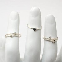 catbird :: shop by category :: Jewelry :: Alphabet Rings - Silver