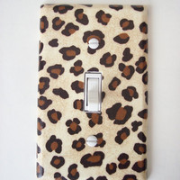 Cheetah Animal Print Single Toggle Switch Plate, wall decor
