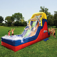 Banzai Double Waterslide Inflatable Water Slide NEW
