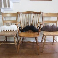 Moustache Pillows  Pick 2 and Save by freakyfleece on Etsy