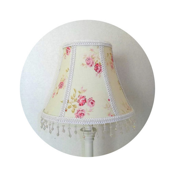 Shabby Chic MInt Garden Rose fabric ~ Lamp Shade by ToileChicBoutique