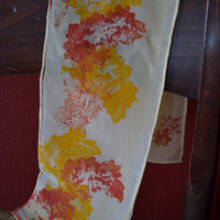 Yellow and Orange Silk Scarf