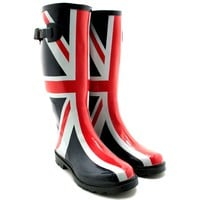 "Spy Love Buy Ladies Union Jack Festival Wellies Wellington Boots ""Ariana"""
