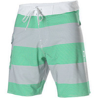 Mens RVCA Civil Green Gray Stripe Board Short  Swim Trunk Size 38 NWT