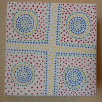 Dot Painting Cross Aboriginal Inspired by Acires on Etsy