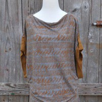 Language Kimono Cognac Top at OurChoix.com