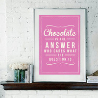 Retro chocolate Art Print by RockTheCustardPrints