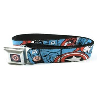 Amazon.com: Captain America Seatbelt Belt: Clothing