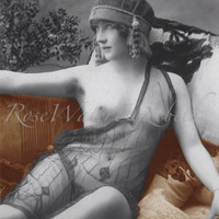 Trixie The Vintage Nude Reproduction Photo Print  MATURE