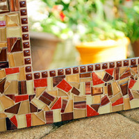 Decorative Wall Mirror, Custom Mosaic Art