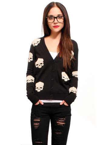 GYPSY WARRIOR - Skull Cardigan