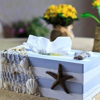 Mediterranean Ocean Style Napkin Box