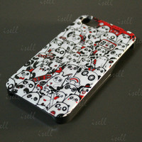 New All Panda Stylish Style Hard Back Cover Case Shell For Apple iPhone 4 4S 4G