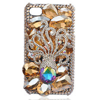 iPhone4S-4G Octopus Crystal Colorful Beautiful Case - GULLEITRUSTMART.COM