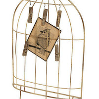 Center Cage Card and Jewelry Holder | Mod Retro Vintage Wall Decor | ModCloth.com