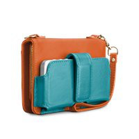 Case-Mate Case-Mate Orange/Turquoise Kayla (Case-Mate CMKAYLA-ORGTQ), Signature Leather iPhone 5 Cases | iPhone 4 / 4S Cases |Samsung Galaxy S3 Cases by Case-Mate
