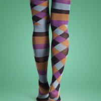 Happy Socks Square & Stripe Tights 01 - Happy Socks