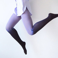 Ombre Tights - Lavender and Deep Purple Gradient - Sample Sale
