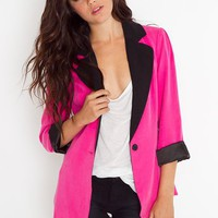 Miami Vice Blazer - Pink in  Clothes at Nasty Gal
