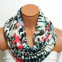 multicolored Infinity Scarf,nomad scarf,,Loop Scarf,Circle Scarf, Multi-color cotton fabric Scarf,Cowl Scarf, Eternity Scarf