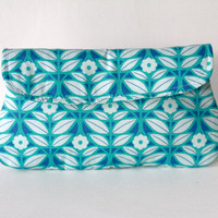Blue and White Clutch, Simple Clutch Purse