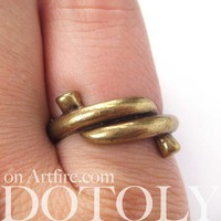 SALE Forget me Knot Ring in Bronze - Available in Sizes 5 to 7