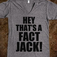 Hey That's A Fact Jack!-Unisex Athletic Grey T-Shirt