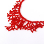 Red Necklace.  Beaded Handmade Jewelry. Beadwork