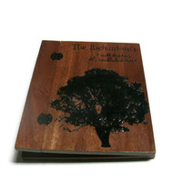 Anniversary Album - Scrapbook Holds Standard 8.5x11 Pages - Custom Woodburnt With Your Design