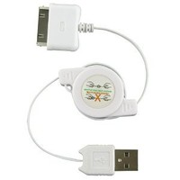 Amazon.com: Oriongadgets Retractable Sync & Charge USB Cable for Apple iPhone 3G (White): Cell Phones & Accessories