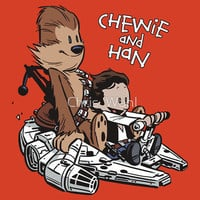Chewie And Han By Chris Wahl T-shirt - Funny, vintage, custom, cool, cotton, women&#x27;s, men&#x27;s and kids tees