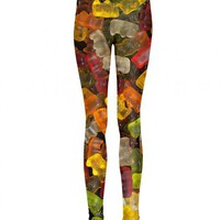 Ladies Shiny Gummy Bears All Over Print Leggings From Mr Gugu &amp; Miss Go : TruffleShuffle.com