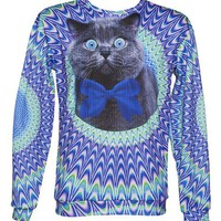Unisex Psychedelic Crazy Cat Jumper From Mr Gugu & Miss Go : TruffleShuffle.com
