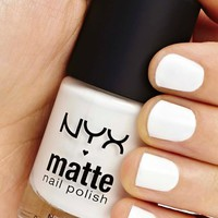 NYX Matte Polish - White