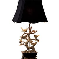 Brass Bird Table Lamp - Horchow
