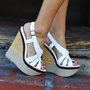 Her Summer Strut Wedges: White | Hope's