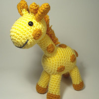 Crocheted Giraffe Stuffed Animal Toy
