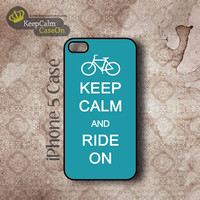 iPhone 5 Case, Keep Calm Ride On iPhone Case Hard Fitted iPhone 5 Case, iPhone 5 Hard Case