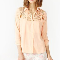 Soft Frame Blouse - Peach