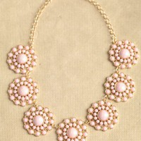 summer lagoon floral necklace in pink at ShopRuche.com
