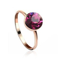 Candy Color Ring with Swarovski Elements
