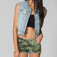 YMI Frayed Womens Denim Vest
