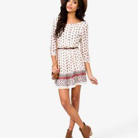 Floral Dress w/ Skinny Beltlt | FOREVER 21 - 2031558264