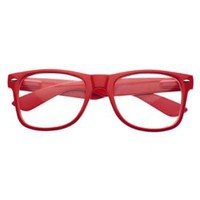 Amazon.com: New Glossy Red Wayfarer Nerd Glasses Clear Lens Optical Quality: Everything Else