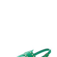 Bamboo Steno 62 Sea Green Studded Thong Sandals