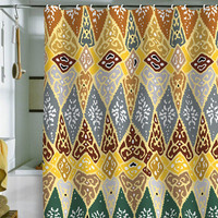 Romi Vega Diamond Tile Shower Curtain