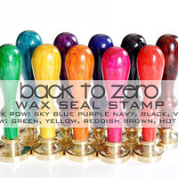 Design Your Own Gold Plated Wax Seal Stamp - 10 Colors Handle Available