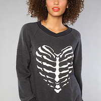 The Skeleton Heart Original Gidget Sweatshirt in Black : Wildfox : Karmaloop.com - Global Concrete Culture